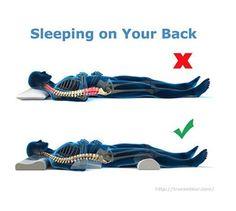 Sleeping on your back
