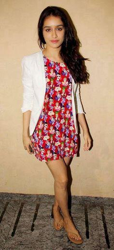 Shraddha Kapoor Short Top And Jacket. http://pinterestwomenfashionblog.blogspot.com/