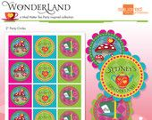 Mad Hatter Tea Party Inspired Printable Party Circles - Tags - DIY Print - Alice in Wonderland Inspired
