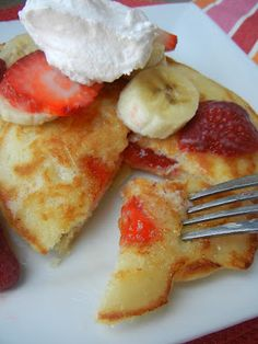 Ebelskiver Stuffed Pancakes--it's like dessert for breakfast!  Stuff your pancakes with fresh fruit, jam, chocolate, nutella or anything you can think of.  Drizzle your pancakes with our Buttermilk Syrup & you have a melt in your mouth breakfast ;)  Deals to Meals