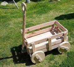 Pallet Child Cart Fun Pallet Crafts for Kids