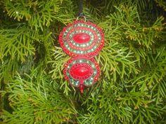 Blood of Nature Red Green Pendant Red Pendant door WorldOfHandicraft,