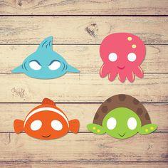 Fish mask, kid mask, sea mask, animal mask, turle mask, shark mask, not nemo, clown fish, octopus mask, jellyfish mask
