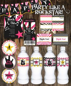 Let's rock and roll Party like a rock star printables
