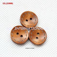 Encontrar Más Botones Información acerca de Bulk ( 100 unids/set ) 2 agujeros redondos botones de madera grabado de coser botones de suministros 20mm BY0226, alta calidad Buttoneer, China botón frontal camisetas Proveedores, barato cubiertas de los botones para los hombres de HJY INTERNATIONAL Co,Ltd (BUTTON & TRIMMING) en Aliexpress.com