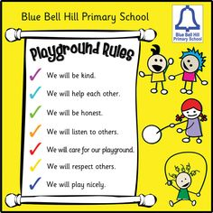 play rules | You are here: Home › Playground Rules Sign Board - Style 3