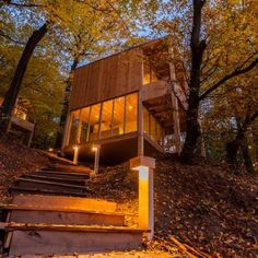 Luxurious and romantic Hungarian lodges in the middle of nowhere – PHOTOS Lodges, Hungary, Budapest, Architecture Design, Deck, Cabin, House Styles, Building, Outdoor Decor