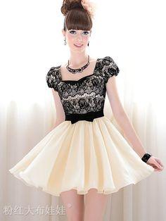 La calidad de niza promoción& por 30 días!!! De moda para mujer vestido vintage de color beige con vestido de encaje y mangas cortas, talla s, m, l, xl