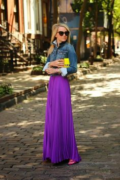 #Radiant Color - Long Skirt