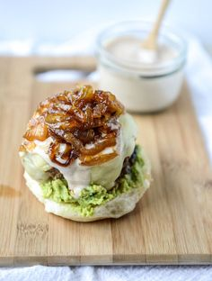 goat cheese guac burgers from  @howsweeteats