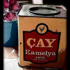 Tea,turkish tea,vintage tea box