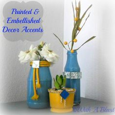 Painted & Embellished Decor Accents  {DIY}