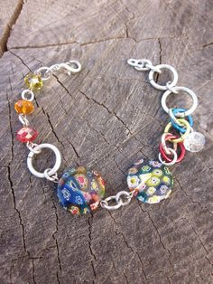 SALE!!! Visit my Etsy Shop and use GENNEXT15 for 15% off your entire purchase!  Millefiori rainbow glass beads chain by gennextjewelry on Etsy, $24.00