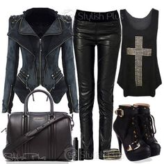 Rock girl outfit