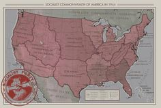 [KRTL] The Immediate Aftermath of the Second American Civil War: The Socialist Commonwealth of America : imaginarymaps