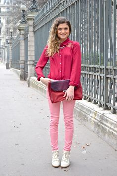 Pink #spring #pink #look #fashion #color #frenchblogger #ootd #outfit #blogmode http://www.marieandmood.com/
