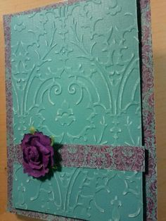 """Using new cuttlebug folder""""pirouette"""" by anna griffin"""
