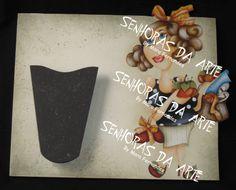 Porta tesoura de mulher com cesta - www.senhorasdaarte.com.br