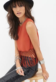 Fringed Woven Top #SummerForever #MustHave