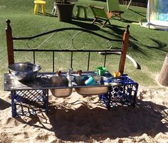 "Inspired reinvented recycled outdoor kitchen at Oac Neutral Bay - image shared by Only About Children ("",)"