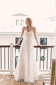 3ac8e56fd976 HOLDEN from the Luna Bleu Collection Spring 2019 at Modern Trousseau.  You'll only
