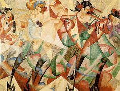 "Gino Severini: ""Ballerine Spagnole al Monico"", Gino Severini, Umberto Boccioni, Giacomo Balla, Italian Futurism, Futurism Art, Dance Paintings, Georges Braque, Italian Painters, Italian Art"
