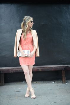 Love this outfit on @Emily Schuman / Cupcakes and Cashmere. Pink + neutral. #bloggeroutfit #style
