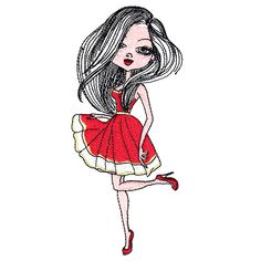Lady in Red 2 Single All Design, Tween, Machine Embroidery Designs, Girly Things, Lady In Red, Stitch, Specs, Projects, Prom