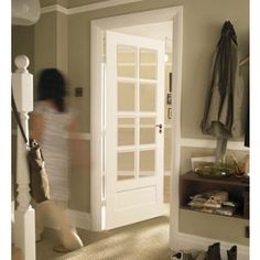 Contemporary 8 Light Glazed Solid Internal Door - 762mm Wide