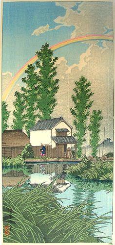 hanga gallery . . . torii gallery: Summer at Itako by Kawase Hasui