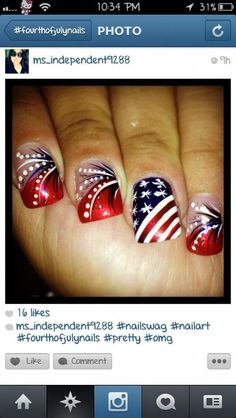 cool 16 Nail Designs For July 4th – Celebrate Holiday with Best Simple Home Manicure - Pepino Top Nail Art Design