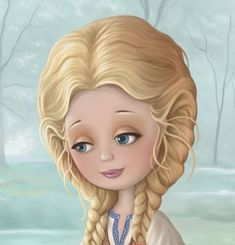 Technically this is not a doll. However, I think she is beautiful. Cute Cartoon, Cartoon Art, Monica Crema, Image Deco, Creation Photo, Animation, Marquis, French Artists, Whimsical Art
