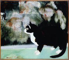 GeorgesManzana-Pissarro,Chat et poissons ~Repinned Via ULTRO GOTHE http://blaaargh.org/page/330