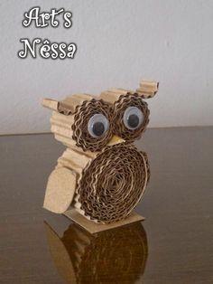 Owl Crafts, Paper Crafts For Kids, Decor Crafts, Diy For Kids, Diy And Crafts, Arts And Crafts, Paper Owls, Quilling Art, Cardboard Crafts
