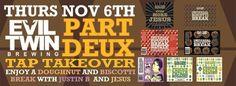 Don't miss Bistro on Bridge's next Tap Takeover on November 6th!
