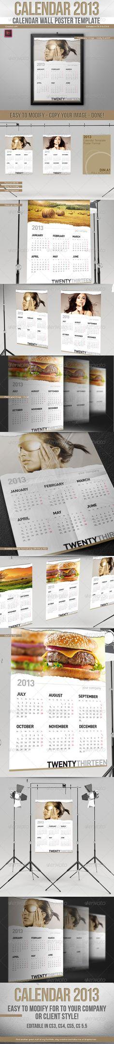 Wall Calendar Set 2017 Calendar design template, Calendar design - sample indesign calendar
