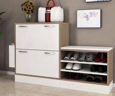 Pantofar Trend Wooden Shoe Storage, Shoe Storage Cabinet, Bench With Storage, Shoe Cabinet Design, Shoe Shelves, Shoe Racks, Interior Work, Rack Design, House Layouts