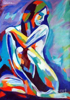 Insightful Pose Painting by Helena Wierzbicki