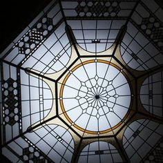 the Bridal Path stained and leaded glass dome