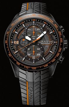 Graham Watch Silverstone RS Endurance Orange Watch available to buy online from with free UK delivery. Amazing Watches, Beautiful Watches, Cool Watches, Men's Watches, Graham Watch, Datejust Rolex, Junghans, Skeleton Watches, Latest Watches
