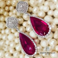 A Statement in Red. Outstanding Ruby & Diamond Earrings. Exclusively at Imperiale #GeneracionesDeExcelencia #diamondearring