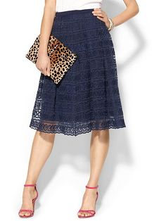 Summer Fashion Trend to Try: Brightly Colored Lace, an Update of the Fem Classic : Love the skirt and I love clutches! Summer Fashion Trends, Spring Summer Fashion, Fashion 2015, Pretty Outfits, Cute Outfits, Pretty Clothes, Look Fashion, Womens Fashion, Cute Skirts