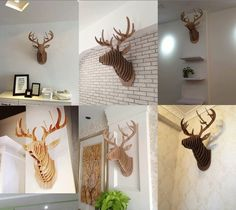 European animal murals , personalized simple, creative fashion , composed by the multi-block plates , require you to personally DIY assembly, packaged with the product installation drawings , assembly is simple and convenient .
