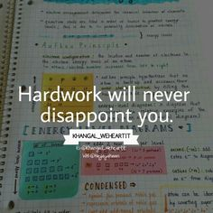 Khangal_weheartit uploaded by KhanGal_WeHeartIt Smart work may sometimes can disappoint you but hard work can never ever dissapoint you! Powerful Motivational Quotes, Motivational Quotes For Students, Positive Quotes, Inspirational Quotes, Study Hard Quotes, Work Quotes, Study Inspiration Quotes, Motivation Inspiration, Exam Motivation Quotes