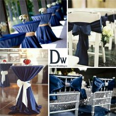 Navy wedding decor