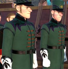 """The Royal Guards are minor characters in the 2013 Disney animated feature film Frozen. They are the guards who patrol Arendelle and the castle. The guards are first seen closing the gates after King Agnarr and Queen Iduna decide to hide Elsa's powers. They are then seen again at a memorial service for the late King and Queen, who both perished in a storm during a sea voyage. They aren't seen again until Elsa commands them to open the gates (""""Tell the guards to open up the gate!""""). The… Frozen Musical, Frozen And Tangled, Frozen Movie, Olaf Frozen, Walt Disney, Disney On Ice, Disney Frozen, Disney Wiki, Pixar"""