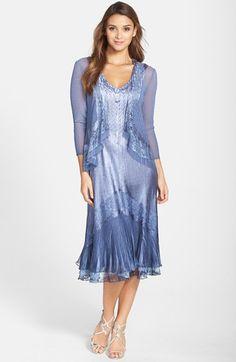 Komarov Embellished Lace Trim Charmeuse Dress & Jacket (Regular & Petite) available at #Nordstrom
