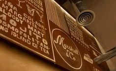 MARSHALL&CO Coffee&Drinks  #interiorismo #diseñodeinteriores #branding  #mural #graffiti