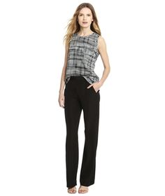 Looking for a more polished adaptation of the retro flare? Try this silky trouser style, which slims out the hips and thighs and is still dressy enough for the office or an evening out.