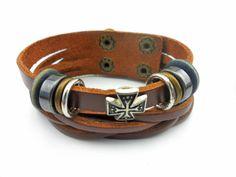 jewelry bangle leather bracelet Metal by jewelrybraceletcuff, $8.00
